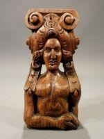 19th century oak carving